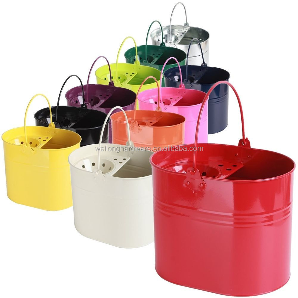 Large Capacity Galvanized Metal Mop Bucket Cleaning Bucket