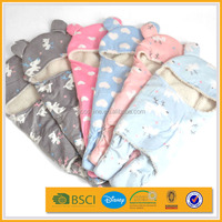 best price chinese animal hood baby swaddle blanket manufacturer china