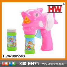 2015 Hot Selling Plastic 16cm friction bubble gun toy
