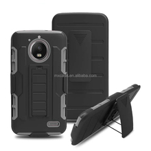 Belt Clip robot silicon stand phone case for MOTO E4 cover