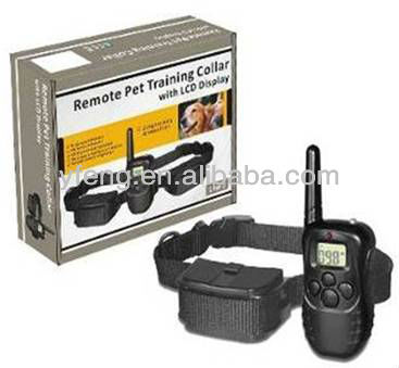 998DR Rechargeable LCD Shock Vibra Remote Control Dog Training Collar