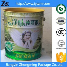 25L paint bucket oil/packaging coating with multicolor