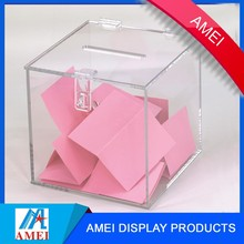wholesale acrylic donation box charity collection box