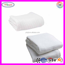 C811 100% Cotton Open-Cell Weave Thermal Blanket Waffle Unique Cotton White Waffle Blanket