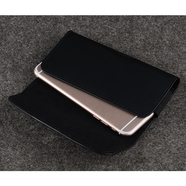 C&T Classic Leather Design Horizontal Belt Clip Magnetic Closing Flap Side Holster Pouch Case for iPhone 6