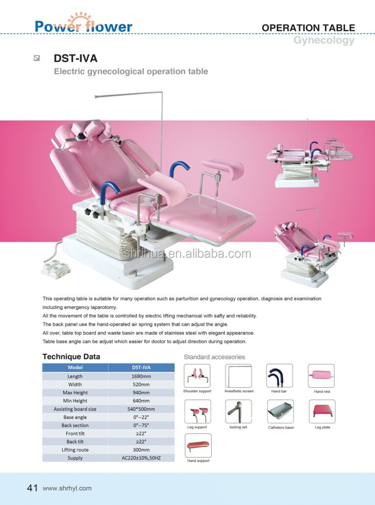 Factory since 1998! DST-IVA Shanghai CE ISO gynecology table