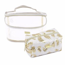 2018 Luxury Beautiful Clear Cosmetic Bag Set Make Up Pouch Toiletry Bags for Women