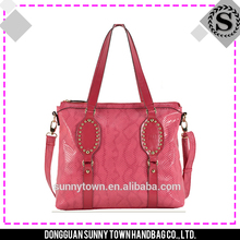Special inner pockets design wholesale ladies handbag manufacturers china