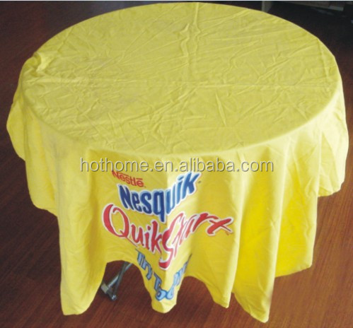 Wholesale Cheap Yellow Waterproof Round Tablecloth