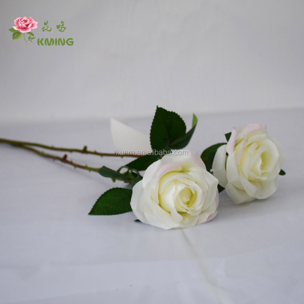 yiwu artificial flower export single stem rose flower with scented for festival