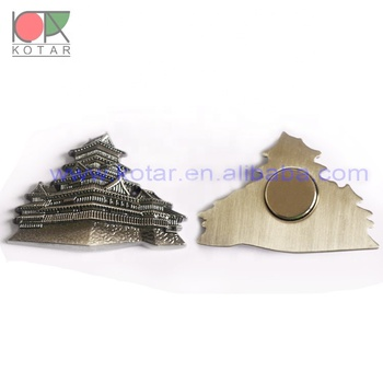 customized antique nickel plating magnet lapel badge with 3D logo
