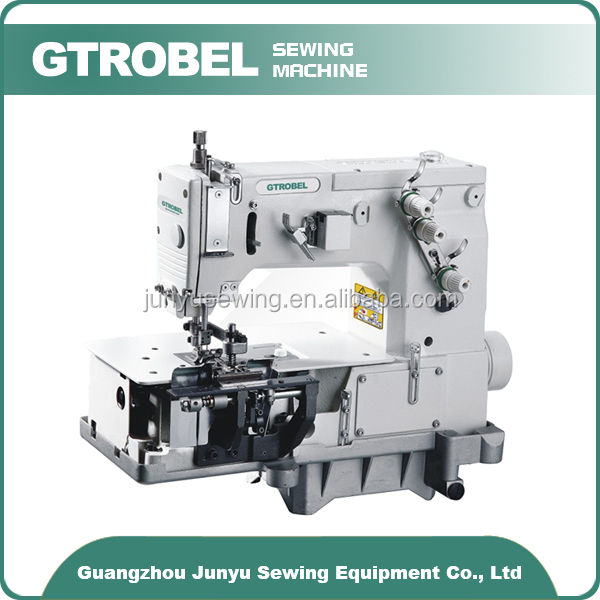 Gtrobel sewing machine GDB-2000C double needle flat-bed making belt loop with front fabric cutter sewing machine