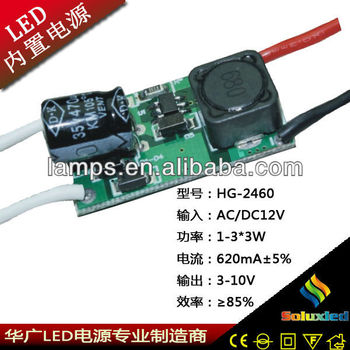 LED converter 3-10V 620mA 1-3*3W made in china power bank