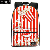 Newest design image of school bag and backpack for high school students backpack, city trends printing backpack