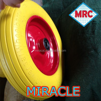 3.00-8 puncture proof wheel barrow tyre pu caster wheel