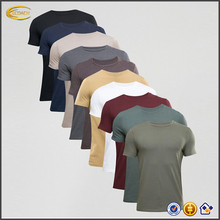 Ecoach blank t shirt china wholesale 95%cotton 5%Elastane crew neck muscle fit wholesale blank t shirts