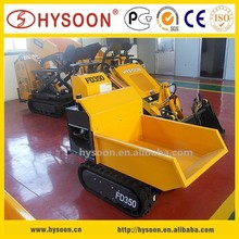 CE certificated garden hydraulic crawler mini dumper