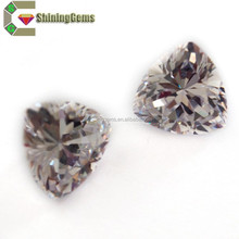 Wholesale Price Top Quality AAAAA 1.0mm White Brilliant Cut Synthetic trillion cz Gemstone