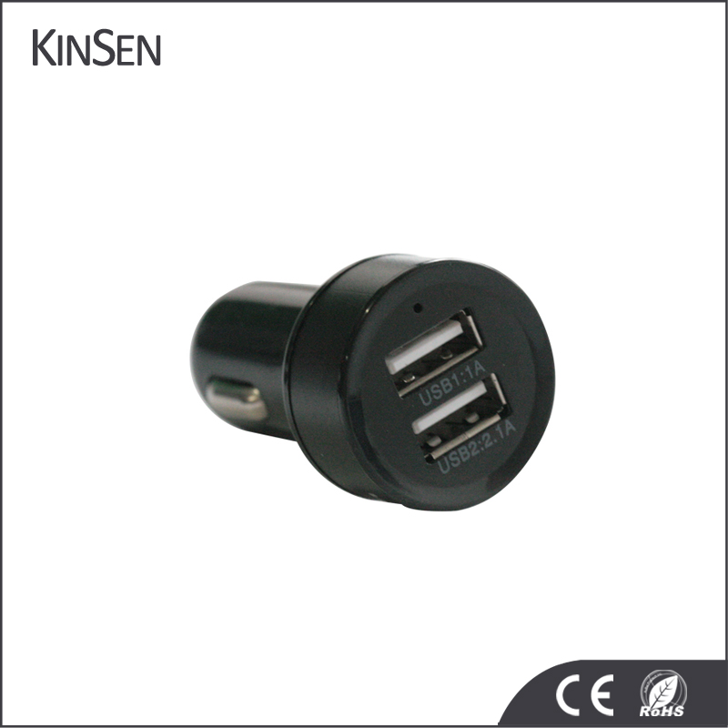 High Quality Phone Accessories 2 USB Ports Auto Charger Usb Car Charger