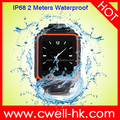 New Arrival waterproof watch phone Sultra W08 1.54 inch GSM Quad Band watch phone