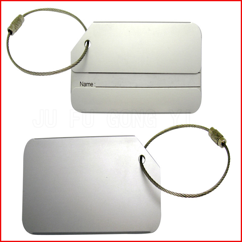 manufacturer produce eco-friendly metal luggage tag
