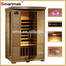 Lifestyles latest carbon fiber heaters 2 person infrared saunas,sauna cabin price