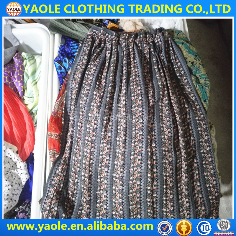 lady silk skirt used clothing company used clothing importers