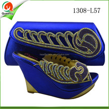 china factory price lady handbag and woman shoe set ladies fashion italian woman shoes and bags on line shop