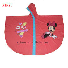 PV-022 Red lovely waterproof for the kids poncho