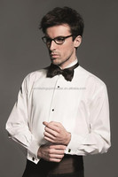 Men's cotton polyester plain white long sleeves simple formal work shirt