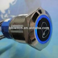 5P waterproof 19mm install push button switch