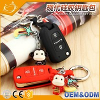 2016wholesale china custom auto keys smart flip silicone car key body case shell for optima sportage Hyundai Creta elantra VERNA