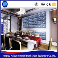 Professional supply best choice restaurants Interior decoration carved embossed faux leather 3d decoration wall panels