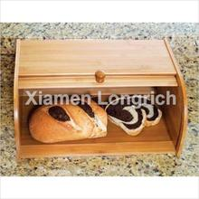 Bamboo Roll Top Bread Box Pastry Storage Caddy