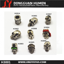wholesale skull beads, metal skull head , skull beads for bracelets