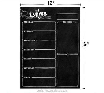 Monthly/Weekly Magnetic Calendar for Refrigerator