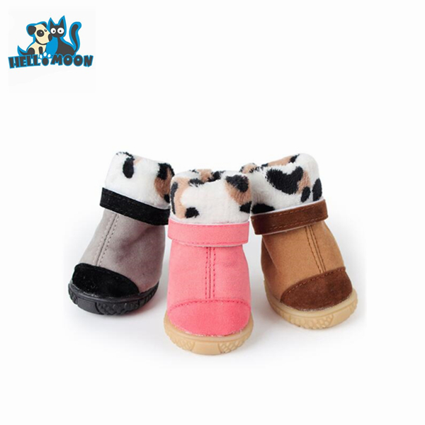 New Style Suede Fabric Durable Xs Dog Shoes Winter Warm Boots