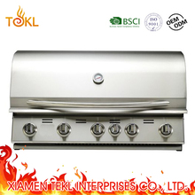 5 Burners Gas Built In BBQ Barbecue Grill With Infrared Back Burner BBQ Grills
