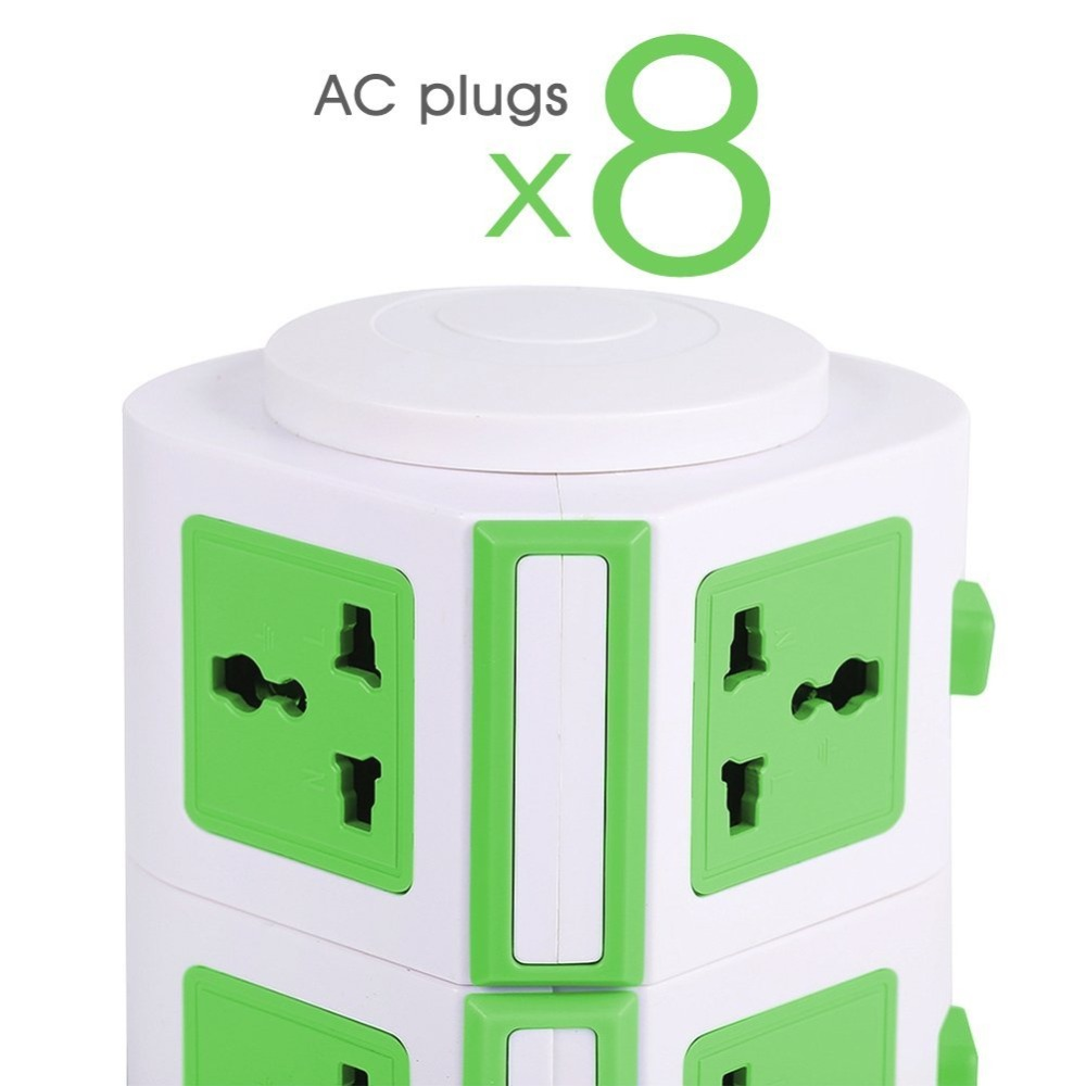 Smart Power Strip Tower - 4-Port USB Charger - 6-Outlet Power Strip - Surge Protector w/Overload Protection - Home or Office use
