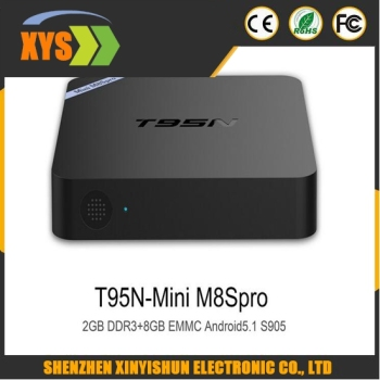Mini M8Spro TV Box Set-top Box Amlogic S905 Android 5.1 Quad Core WiFi Bluetooth 4.0 2GB RAM 8GB Smart Media Player EU/US Plug