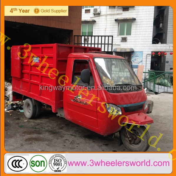 China 2014 selling dump truck used tipper trucks /garbage tricycle for sale