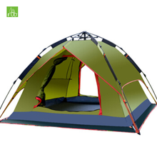 Professional Manufacturers Wholesale Double Layer 3 or 4 Person Automatic Waterproof Custom Outdoor Family Camping Tent