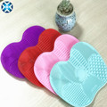 Best selling silicone make up brush cleaner mat/cleaning pad