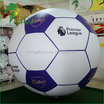 Custom Giant Football Balloon / Inflatable Soccer Helium Balloon for Events
