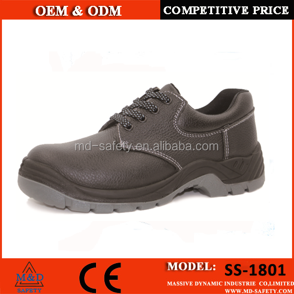 Slip risistant waterproof safety shoes with steel toe