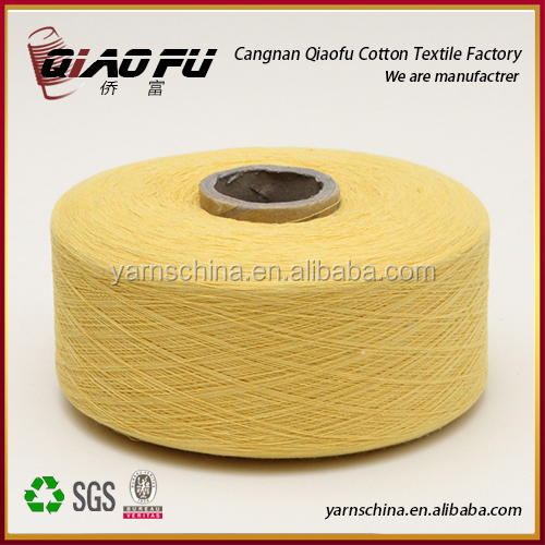 Cangnan factory cotton yarn of bleach white 6s/1 for weaving