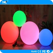 Waterproof LED garden glowing plastic ball light / new product outdoor LED moon light ball