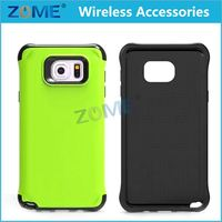 2015 Creative China Supplier 2 In 1 Hybrid TPU+PC Armor Cell Phone Caes For Samsung Galaxy Note 5