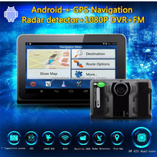 navigation gps with radar detector all in one