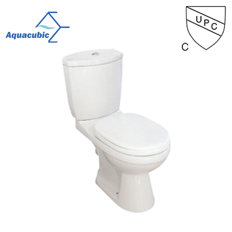 Two Piece floor mounted toilet and bath wc bathroom